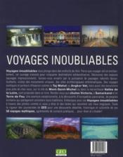 Voyages Inoubliables ; Les Plus Belles Destinations Du Monde - 4ème de couverture - Format classique