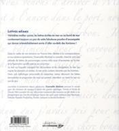 Lettres océanes - 4ème de couverture - Format classique