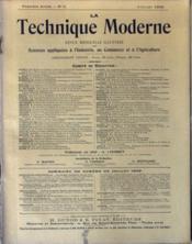 presse technique moderne la n 176 8 du 01 07 1909 juillet 1909