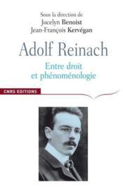 Adolf Reinach ; entre droit et phénomènologie
