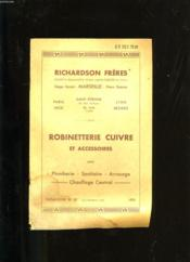 Catalogue De Robinetterie Cuivre Et Accessoires. N°30. Richardson Freres.