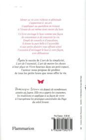 L'art de la delicatesse - 4ème de couverture - Format classique