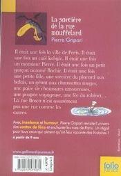 La sorcière de la rue Mouffetard et autres contes de la rue Broca - 4ème de couverture - Format classique
