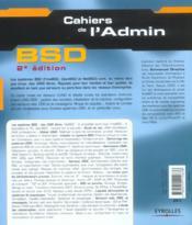 BSD (2e édition) (2e édition) - 4ème de couverture - Format classique
