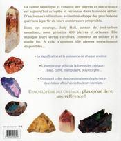 Encyclopédie des cristaux - 4ème de couverture - Format classique