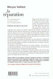 La Reparation - 4ème de couverture - Format classique