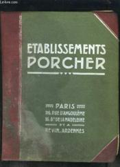 Catalogue Etablissement Porcher- Appareils Sanitaires- Salles De Bains- Cabinets De Toilette- Hydrotherapie