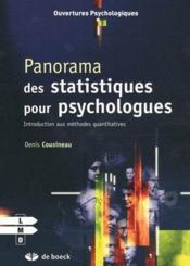 Panorama des statistiques pour psychologues ; introduction aux méthodes quantitatives