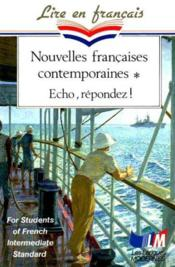 Nouvelles Contemporaines Francaises - Couverture - Format classique
