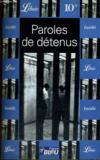 Livres - Paroles de detenus