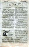 Presse - Sante (La) N°11 du 09/01/1868