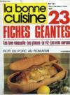 Livres - La Bonne Cuisine, N° 41, Aout-Sept. 1981