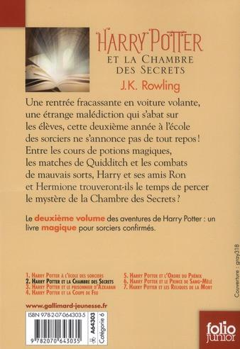 Livre harry potter t 2 harry potter et la chambre des - Harry potter et la chambre des secrets torrent ...