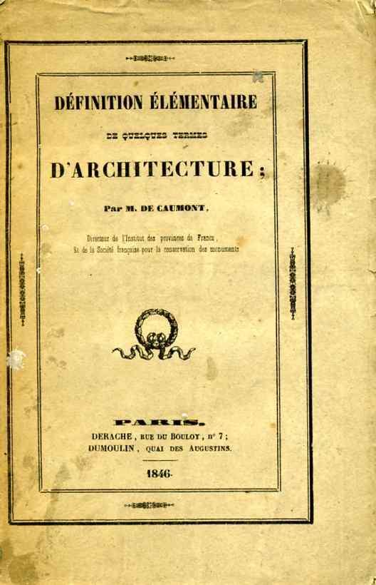 Livre d finition l mentaire de quelques termes d for Architecture classique definition