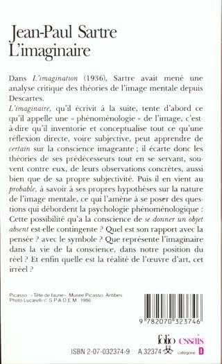 l imaginaire jean paul sartre pdf
