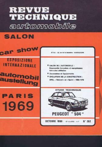 livre revue technique automobile n 282 paris 1969. Black Bedroom Furniture Sets. Home Design Ideas