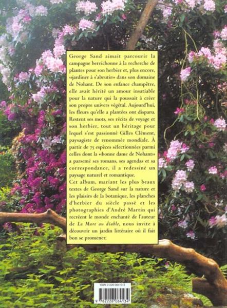 Livre le jardin romantique de george sand christiane for Jardin romantique francais
