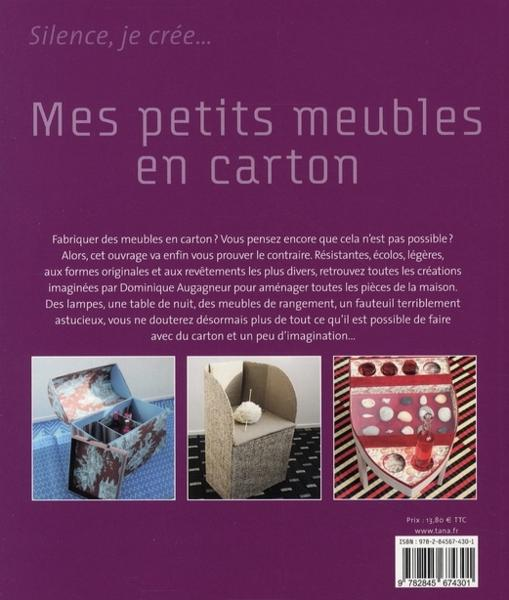 livre mes petits meubles en carton 30 cr ations en. Black Bedroom Furniture Sets. Home Design Ideas