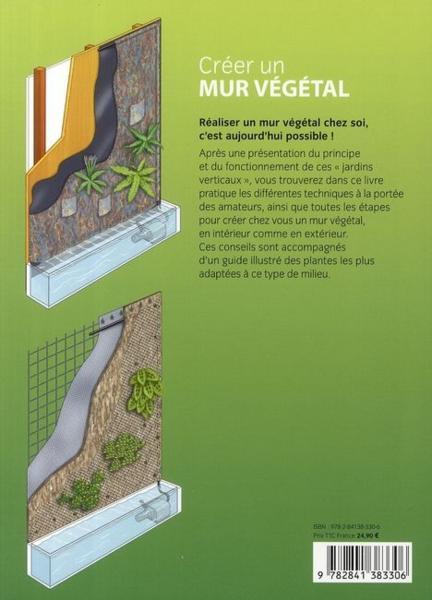 Livre cr er un mur v g tal en int rieur et en ext rieur jean michel groult - Comment vegetaliser un mur exterieur ...