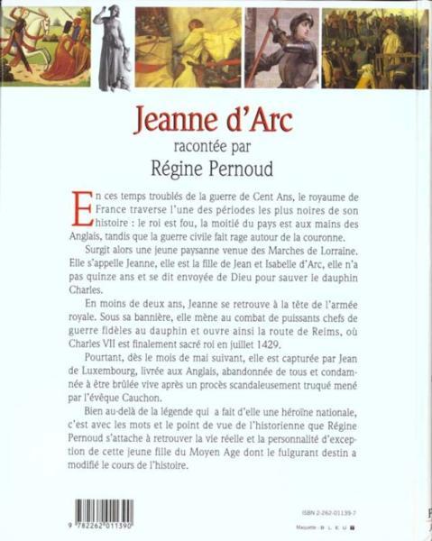 livre jeanne d 39 arc racontee aux jeunes par regine pernoud r gine pernoud acheter occasion. Black Bedroom Furniture Sets. Home Design Ideas