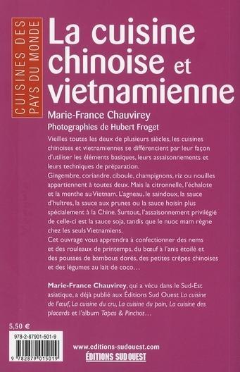 livre la cuisine chinoise et vietnamienne marie france chauvirey. Black Bedroom Furniture Sets. Home Design Ideas