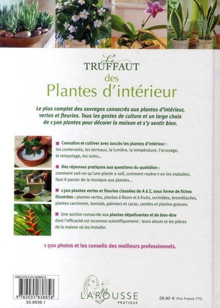 Livre le truffaut des plantes d 39 int rieur choisir for Achat plantes vertes en ligne