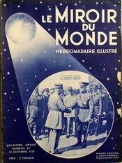 Miroir Du Monde (Le) N°87 du 31/10/1931 - Couverture - Format classique