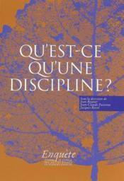 Qu'est-ce qu'une discipline ? - Couverture - Format classique