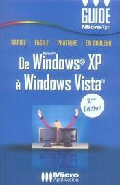 De Windows Xp A Windows Vista (2e Edition)