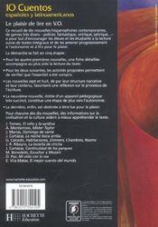 10 cuentos espanoles y latinoamericanos ; vers une lecture autonome (édition 2004) - 4ème de couverture - Format classique
