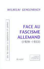 Face Au Fascisme Allemand (1929-1933) - Intérieur - Format classique