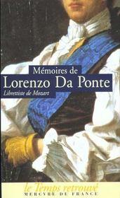 Memoires (1749-1838), Par Le Librettiste De Mozart