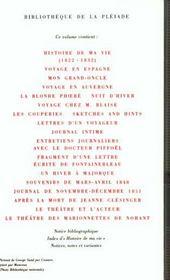 Oeuvres Autobiographiques T2 - 4ème de couverture - Format classique