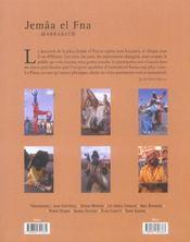 Jemaa el fna marrakech - 4ème de couverture - Format classique