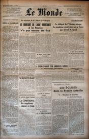 Monde (Le) N°836 du 05/10/1947