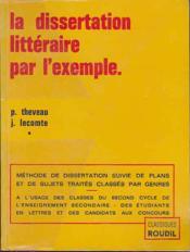 De Dissertation Litteraire