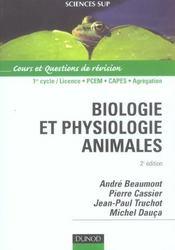 Biologie Et Physiologie Animales - 2eme Edition