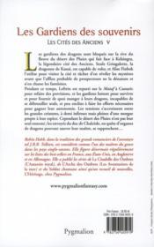 Les cités des anciens t.5 ; les gardiens des souvenirs - 4ème de couverture - Format classique