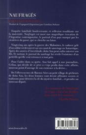 Naufragés - 4ème de couverture - Format classique