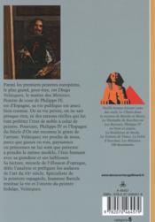 Velazquez, peintre hidalgo - 4ème de couverture - Format classique