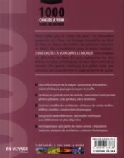1000 choses à voir dans le monde (2e édition) - 4ème de couverture - Format classique