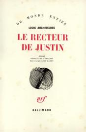 Le recteur de justin - Couverture - Format classique