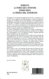 Intempestives N.3 ; Indignés, La Force De L'Anonyme ; Indignados, La Fuerza Del Anonimato - 4ème de couverture - Format classique