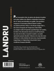 Landru, 6h10 temps clair - 4ème de couverture - Format classique