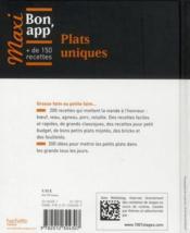 Maxi bon app' plats uniques