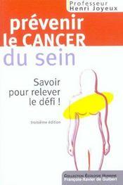 Prévenir les cancers du sein