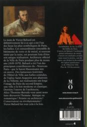 Baltard et l'épopée des Halles de Paris - 4ème de couverture - Format classique