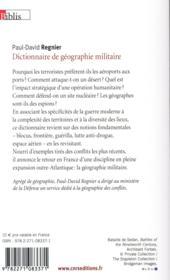 Dictionnaire de géographie militaire - 4ème de couverture - Format classique