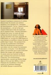 Le prix Goncourt - 4ème de couverture - Format classique