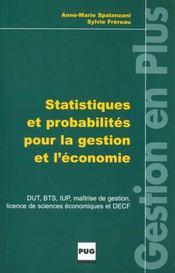 Statistiques pour la gestion et l'économie